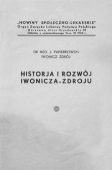 Historja i rozwój Iwonicza-Zdroju