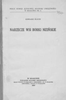 Narzecze wsi Borki Nizińskie