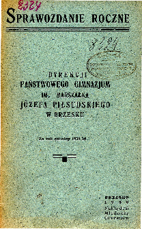 Sprawozdanie Dyrekcji Państwowego Gimnazjum Koedukacyjnego w Brzesku za rok szkolny 1935/36
