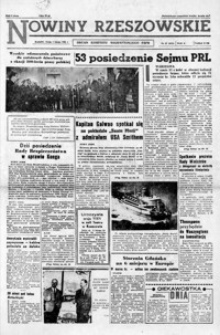 Nowiny Rzeszowskie : organ KW Polskiej Zjednoczonej Partii Robotniczej. 1961, nr 27-50 (luty)