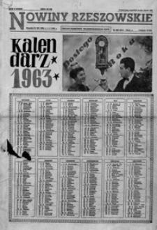 Nowiny Rzeszowskie : organ KW Polskiej Zjednoczonej Partii Robotniczej. 1963, nr 309, 1-26 (styczeń)