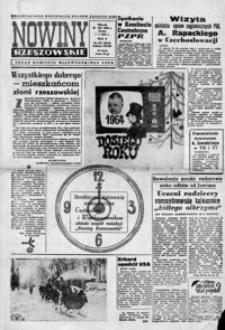 Nowiny Rzeszowskie : organ KW Polskiej Zjednoczonej Partii Robotniczej. 1964, nr 307, 1-26 (styczeń)