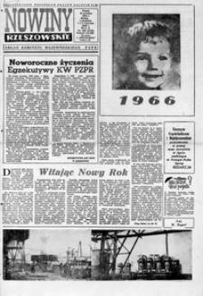 Nowiny Rzeszowskie : organ KW Polskiej Zjednoczonej Partii Robotniczej. 1966, nr 309, 1-25 (styczeń)