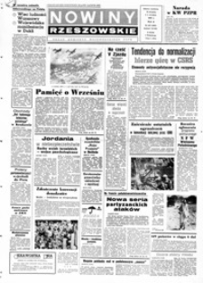 Nowiny Rzeszowskie : organ KW Polskiej Zjednoczonej Partii Robotniczej. 1968, nr 207-232 (wrzesień)
