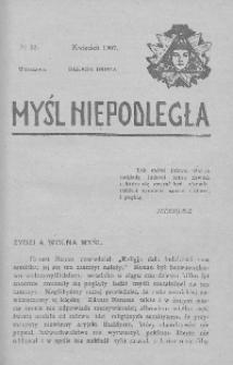 Myśl Niepodległa 1907 nr 23