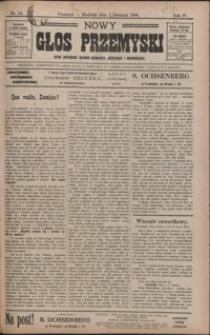 Nowy Głos Przemyski : pismo poświęcone sprawom społecznym, politycznym i ekonomicznym. 1906, R. 4, nr 14-18 (kwiecień)