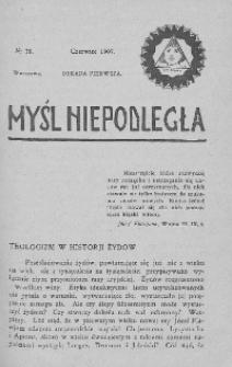 Myśl Niepodległa 1907 nr 28