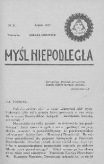 Myśl Niepodległa 1907 nr 31