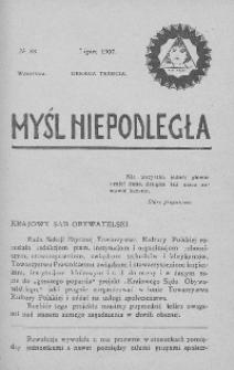 Myśl Niepodległa 1907 nr 33