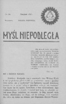 Myśl Niepodległa 1907 nr 34