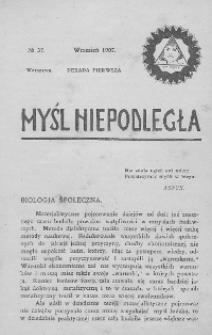 Myśl Niepodległa 1907 nr 37