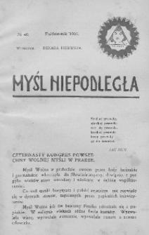 Myśl Niepodległa 1907 nr 40