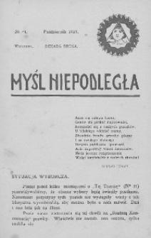 Myśl Niepodległa 1907 nr 41