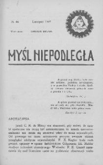 Myśl Niepodległa 1907 nr 44
