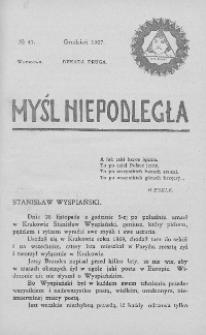 Myśl Niepodległa 1907 nr 47