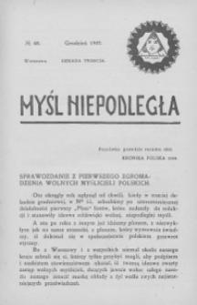 Myśl Niepodległa 1907 nr 48