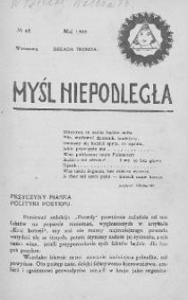 Myśl Niepodległa 1908 nr 67