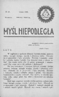 Myśl Niepodległa 1908 nr 69