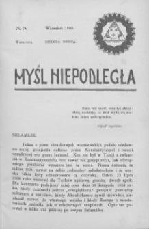 Myśl Niepodległa 1908 nr 74
