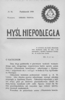 Myśl Niepodległa 1908 nr 78