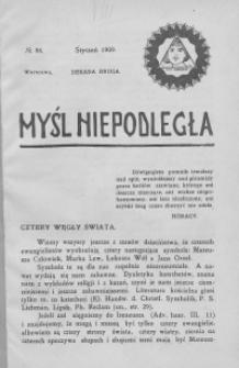 Myśl Niepodległa 1909 nr 86