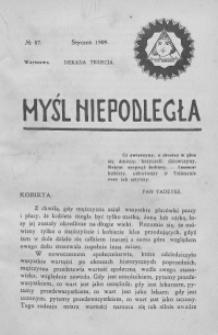 Myśl Niepodległa 1909 nr 87
