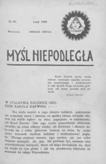 Myśl Niepodległa 1909 nr 89