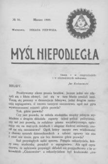 Myśl Niepodległa 1909 nr 91