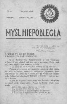 Myśl Niepodległa 1909 nr 94