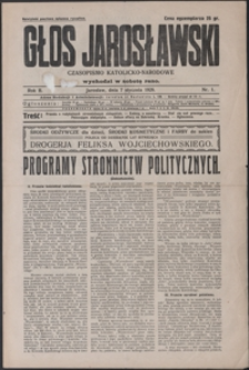 Głos Jarosławski : czasopismo katolicko-narodowe. 1928, R. 2, nr 1-4 (styczeń)