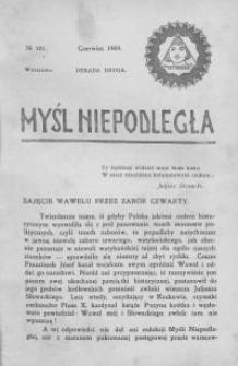 Myśl Niepodległa 1909 nr 101