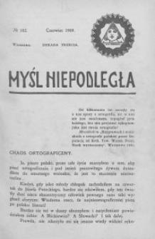 Myśl Niepodległa 1909 nr 102