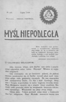 Myśl Niepodległa 1909 nr 103