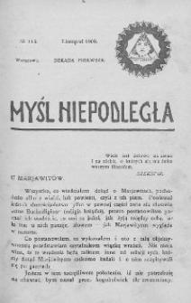 Myśl Niepodległa 1909 nr 115