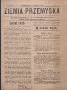 Ziemia Przemyska. 1915, R. 3, nr 1-14 (styczeń)