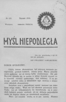 Myśl Niepodległa 1910 nr 123