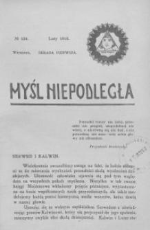 Myśl Niepodległa 1910 nr 124