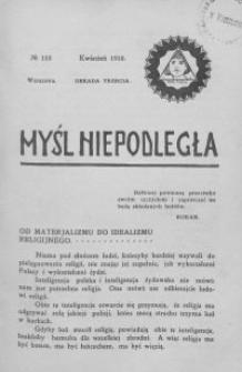 Myśl Niepodległa 1910 nr 132