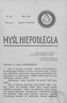 Myśl Niepodległa 1910 nr 133
