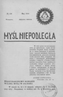 Myśl Niepodległa 1910 nr 134