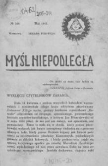 Myśl Niepodległa 1912 nr 205