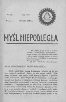 Myśl Niepodległa 1912 nr 206