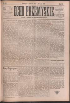 Echo Przemyskie : organ Stronnictwa Katolicko-Narodowego. 1898, R. 3, nr 62-69 (sierpień)
