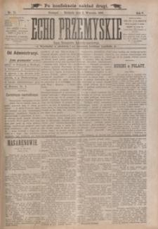 Echo Przemyskie : organ Stronnictwa Katolicko-Narodowego. 1900, R. 5, nr 71-79 (wrzesień)