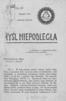 Myśl Niepodległa 1912 nr 216