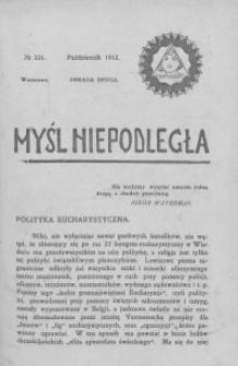 Myśl Niepodległa 1912 nr 221