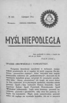 Myśl Niepodległa 1912 nr 223