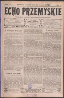 Echo Przemyskie : organ Stronnictwa Katolicko-Narodowego. 1904, R. 9, nr 1-10 (styczeń)