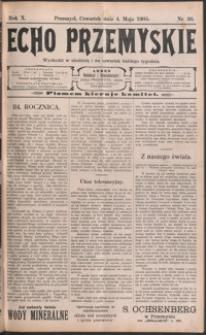 Echo Przemyskie : organ Stronnictwa Katolicko-Narodowego. 1905, R. 10, nr 36-43 (maj)