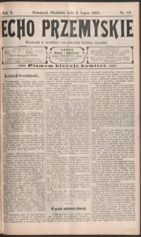 Echo Przemyskie : organ Stronnictwa Katolicko-Narodowego. 1905, R. 10, nr 53-61 (lipiec)